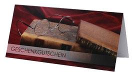 Geschenk-Gutschein mit Brillenmotiv