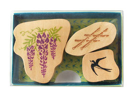 "☆ stamp set ""Wisteria & Swallow"""