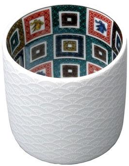 ☆ KUTANI Porcelain cup -Ishidatami- ☆