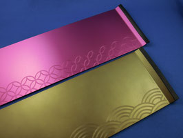 ☆ Metal plate with a laser engraving