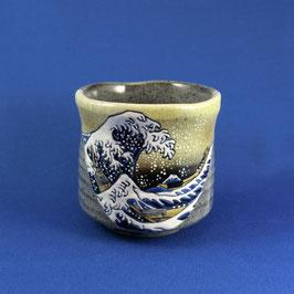 "Yunomi Teacup ""Ukiyoe, Hokusai Wave"""