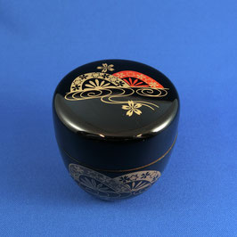 "☆Natsume Tea caddy ""MIZUGURUMA"" Gold Rim"