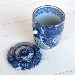 "☆Teacup with lid  ""Ikkanjin"" blue 220ml"