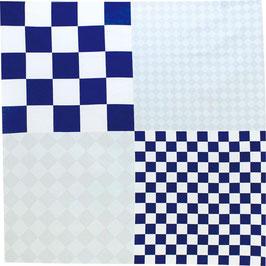 """☆Hare-Tsutsumi """"Ichimatsu"""" Checkered, Blue"""