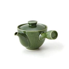 "☆Kyūsu-Teapot ""CREASE"" Oribe green"" 400ml"