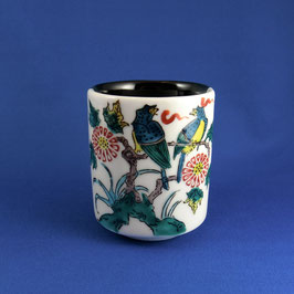 "Yunomi Teacup ""Ko-Kutani, Kachoō"""