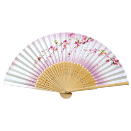 "☆ SENSU Fan ""SAKURA"" Cherry blossom, white-pink"