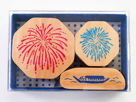 "☆ stamp set ""Firework & Houseboat"""