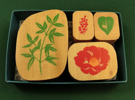 """☆ stamp set """"Camellia"""" - """"Kamelie"""""""