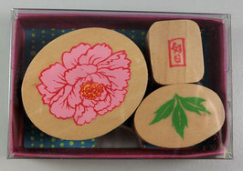 """☆ stamp set """"Peony & Leaf"""""""