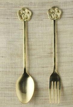 """☆ """"mizuhiki"""" Dessert Spoon & Fork pair set"""