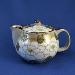 "Kutani Teapot ""White Peony"" gold leaf, 360 ml"