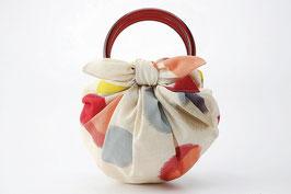 ☆FUROSHIKI BAG SET -Beige / red-