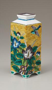 """☆Kutani vase - """"Yoshidaya - Fuyo""""  H. 21cm"""