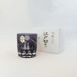 """☆ Edo-Kiriko Guinomi """"Rabbits & Moon"""""""