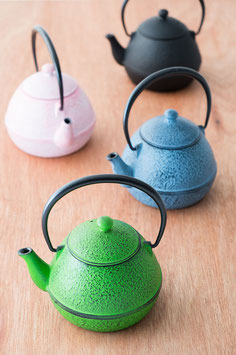 ☆ NANBU cast iron colored Teapot -pink-blue-green -☆