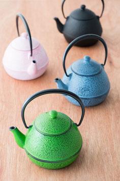 ☆ NANBU cast iron colored Teapot -pink-blue-green -☆