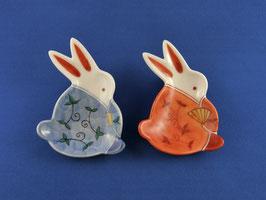 "☆ Mamezara set ""Rabbit in arabesque kimono"""