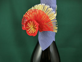 ☆ MIZUHIKI Bottle Ribbon -red, Plum flower