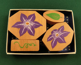 "☆ stamp set ""Clematis"""