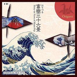 """☆ Hokusai ukiyoe Orizuru """"36+10 views of Mount Fuji"""""""