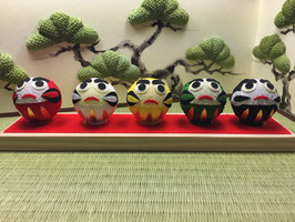 ☆ 5 wishing Mini-DARUMA doll set ☆