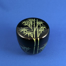 "☆Natsume Tea caddy ""TAKE"" Gold Rim"