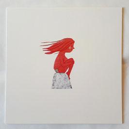 Meerjungfrau - Fine art print/ la skulpture/ honeybee - Original Druck