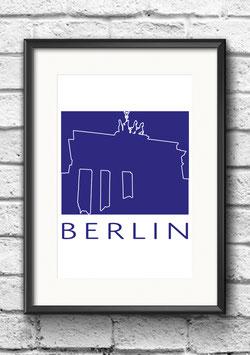 "Poster ""Berlin"" | Blau"