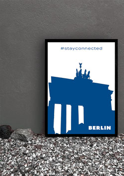"Poster Stay Connected ""Berlin"" 