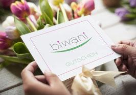 """Gutschein """"biwani"""""""