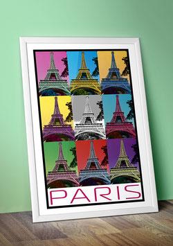 """Poster """"Le Tour Eiffel"""" - Paris"""
