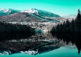 Leinwand Berge GrünTürkis
