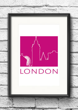 "Poster ""London"" | Pink"
