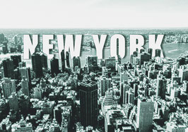 "Leinwand ""New York Typo I"" - USA"