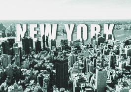 """Leinwand """"New York Typo I"""" - USA"""