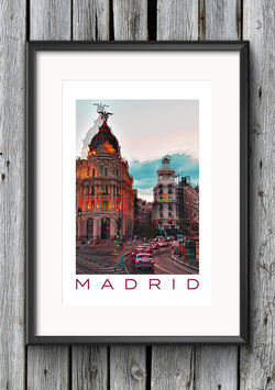 "Poster ""La Vida en Madrid"" 