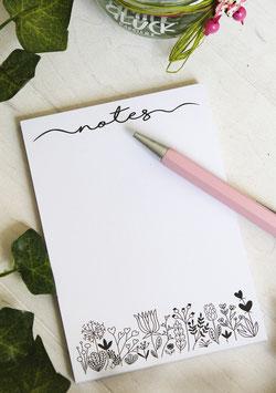 """Notizblock - """"Notes Floral"""""""