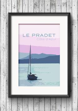 """Poster """"Le Pradet"""""""