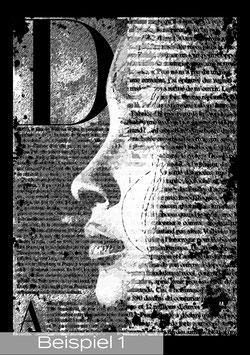 """Ihre individuelle Leinwand """"Newspaperart-Style"""""""