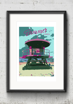 "Poster Popart-Style ""Summer Vibes"" 