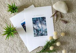 """Poster Leinenkarton DIN A4 """"Le Pradet Bois"""""""