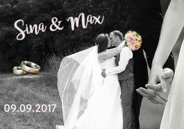 """Ihre individuelle Bildcollage """"Hochzeit"""""""