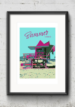 """Poster Popart-Style """"Summer Vibes"""" 