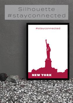 "Ihr individuelles Poster ""Lieblingsstadt #stayconnected"" | Bunt"