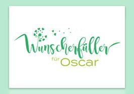 """Karte - """"Wunscherfüller grün"""" für Geldgeschenke (individualisierbar mit Namen)"""