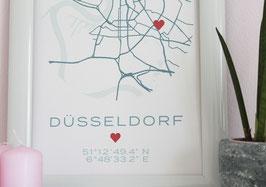 Ihr individuelles Mapposter   Design Two