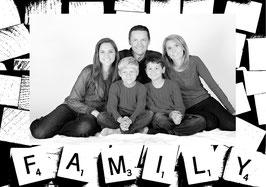 """Ihr individuelles Poster """"Family"""" schwarz/weiß"""