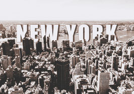 "Leinwand ""New York Typo II"" - USA"
