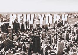 "Leinwand ""New York Typo II"" - USA"